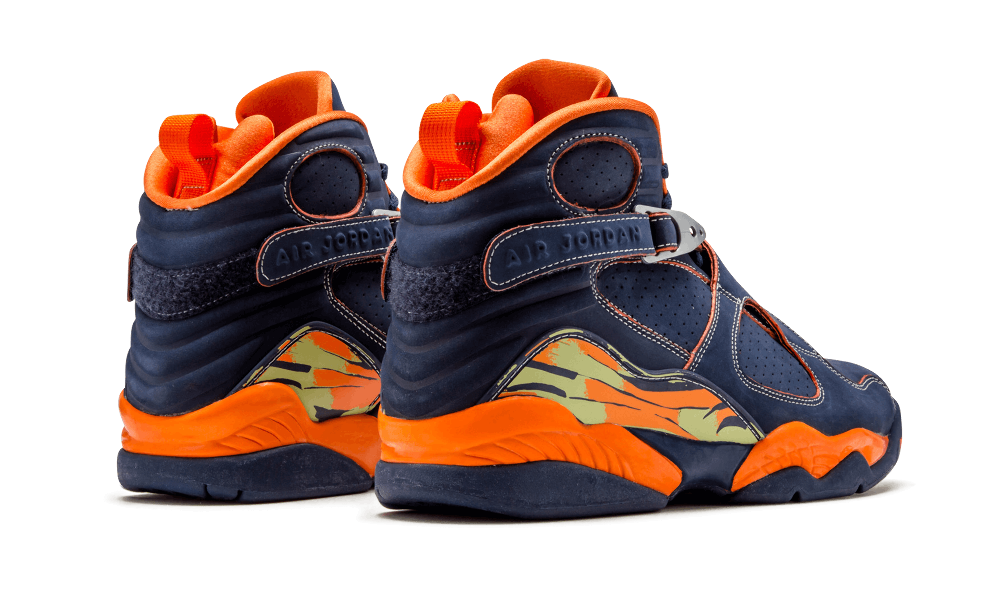bd8d7069f111ab ... Air Jordan 8 Retro LS Navy Orange Blaze-Pea Pod 316324-481 Black ...