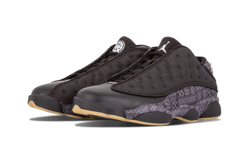 4c1be5f761a3ac ... uk air jordan 13 retro low q54 quai 54 black chrome dark grey 3f5a7  077a9 ...