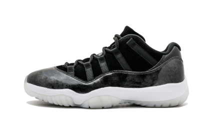 "Air Jordan 11 Retro Low ""BARON"" Black/White-Metallic Silver 528895-010"