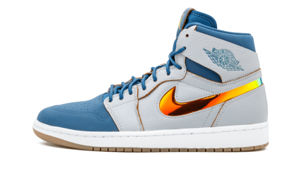 Air Jordan 1 Retro High NOUV Wolf Grey/French Blue-White 819176-009