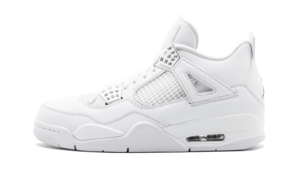 "Air Jordan 4 Retro ""Pure Money"" White/Metallic Silver 308497-100"