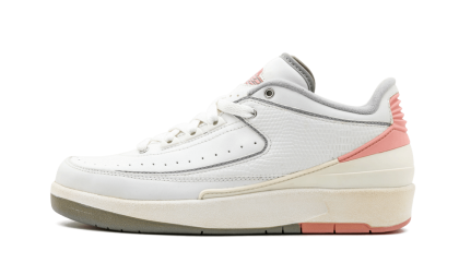 Air Jordan 2 Retro Low WMNS White/Light Grey-Pink 309838-103