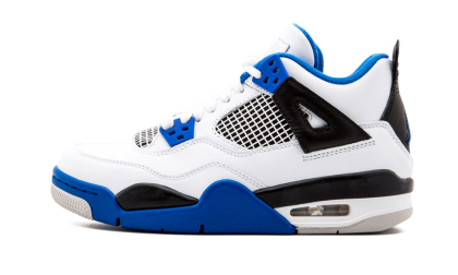 Air Jordan 4 Retro WMNS White/Game Royal-Black 408452-117 Cyber Monday