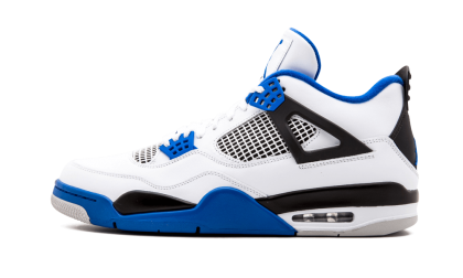 "Air Jordan 4 Retro ""Motorsports"" White/Game Royal-Black 308497-117 Black Friday"