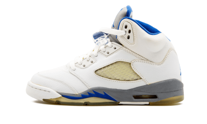 Air Jordan 5 Retro WMNS White/Sport Royal-Stealth 134092-142