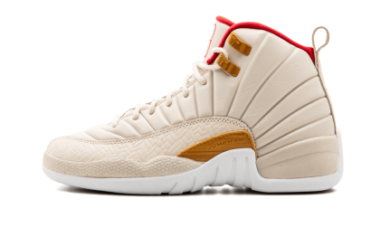 Air Jordan 12 Retro CNY WMNS Light Bone/Varsity Red 881428-142