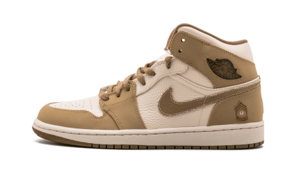 Air Jordan 1 PEARL White/Hay-Walnut 325514-221 Black Friday