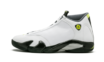 Air Jordan 14 Retro White/Chartreuse-Black 311832-132 Cyber Monday