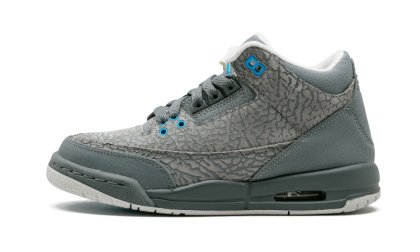 Air Jordan 3 Retro WMNS Cool Grey/Blue GLow-Grey 441140-015 Black Friday