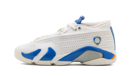 Air Jordan 14 Retro Low WMNS White/Pacific Blue 312568-141 Black Friday