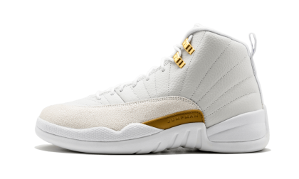 "Air Jordan 12 Retro OVO ""October's Very Own"" White/Metallic Gold-White 873864-102"