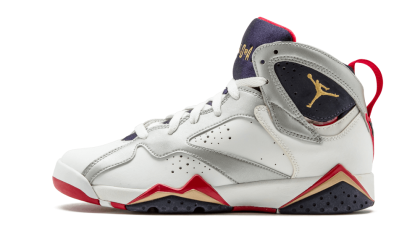 "Air Jordan 7 Retro WMNS ""Olympic"" White/Mtllc Gold-Obsidian-Red 304774-135"