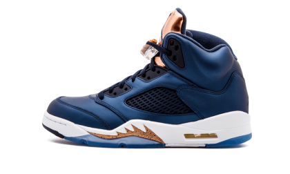 "Air Jordan 5 Retro ""Bronze"" Obsidian/White-Metallic Red Bronze 136027-416"