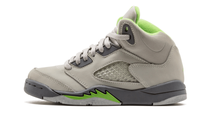 "Jordan 5 Retro ""Green Bean"" Silver/Green Bean-Flint Grey 135346-031"