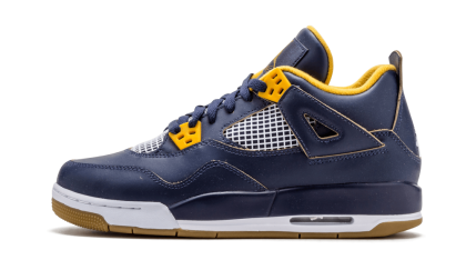 Air Jordan 4 Retro WMNS Mid Navy/Metallic Gold-White 408452-425