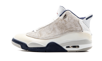 Air Jordan Dub Zero White/Navy-Grey-Red 311046-104 Cyber Monday