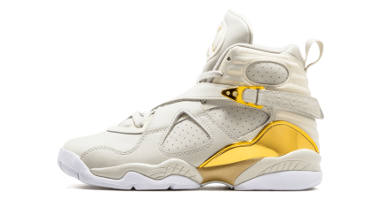 Air Jordan 8 Retro C&C WMNS Light Bone/Metallic Gold-White 833378-030