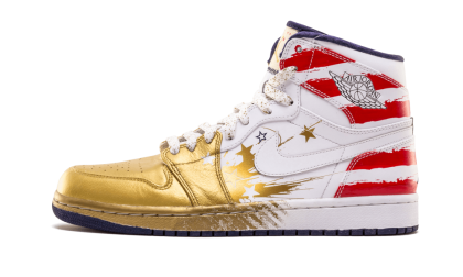 """Dave White x Air Jordan 1 """"Wings for the Future"""" Met Gold/White-Sport Red-Mid Navy 237399-043"""