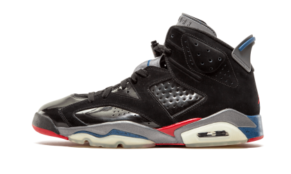 "Air Jordan 6 Retro ""Pistons"" Black/Varsity Red-Blue 384664-001"