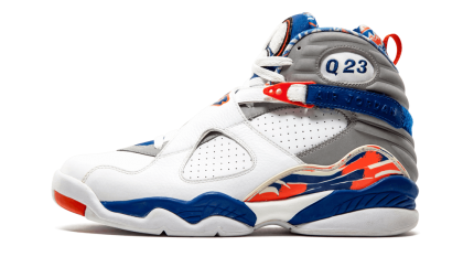 "Air Jordan 8 Retro Q23 ""Quinten Richardson PE"" White/Blue Ribbon-Orange Flash 305381-141"