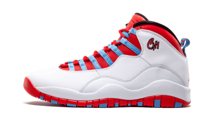 "Air Jordan Retro 10 ""City Pack - Chicago"" White/Red-University Blue-Black 310805-114"