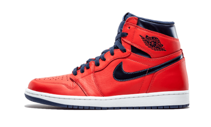 "Air Jordan 1 Retro High OG ""DAVID LETTERMAN"" Crimson/Mid Navy-University Blue 555088-606"