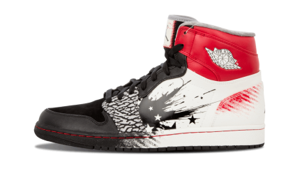 "Air Jordan1 High DW ""Dave White"" Black/Sport Red-White 464803-001"