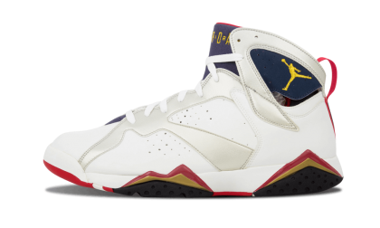 "Air Jordan 7 Retro ""Olympic"" White/Metallic Gold-Navy-True Red 304775-171"