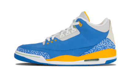 "Air Jordan 3 LS ""Do The Right Thing"" Blue/Pro Gold-Green 315297-471"