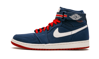 "Air Jordan 1 Hi Strap ""Olympic"" Navy/Varsity Red 342132-461 Black Friday"