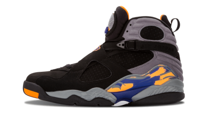 "Air Jordan 8 Retro ""Phoenix Suns"" Black/Grey-Blue 305381-043 Black Friday"