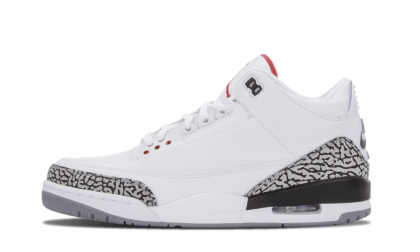 "Air Jordan 3 Retro '88 ""88"" White/Fire Red-Cement Grey-Black 580775-160"