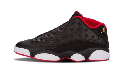 "Air Jordan 13 Retro Low ""Bred"" Black/Metallic Gold-Red-White 310810-027"