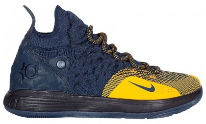 Black Friday Nike KD 11 Shoes (Blue/Gold) AO2604-400