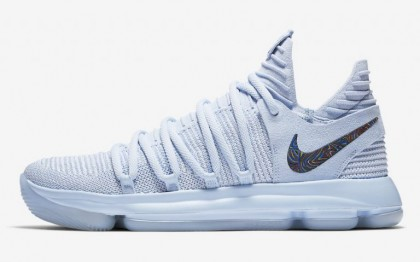 "Valentines Day Pretty Nike KD 10 ""Anniversary"" Faint Blue/Multi 897817-900"