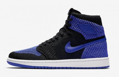 "Air Jordan 1 Flyknit ""Royal"" Black/Game Royal-White 919704-006"
