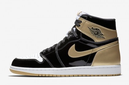 Air Jordan Retro 1 High OG NRG Black/Black-Metallic Gold-White 861428-007
