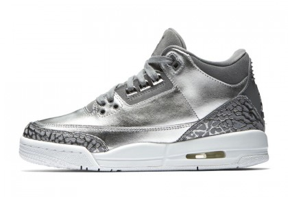 Air Jordan 3 PRM HC GG Chrome/Cool Grey-White-Metallic Silver AA1243-020