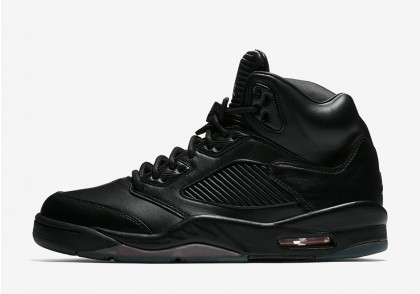 "Air Jordan 5 Premium ""FLIGHT JACKET"" Black 881432-010"