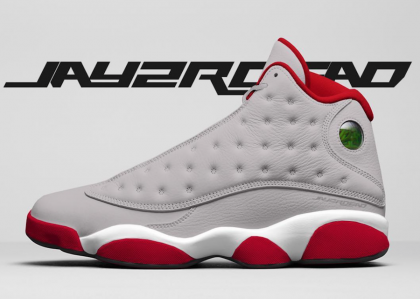 Cyber Monday Air Jordan 13 Retro (Grey/White-University Red) 414571-016