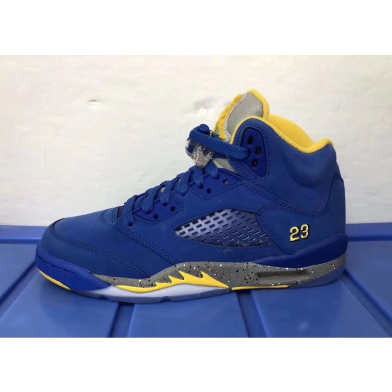"Air Jordan 5 JSP ""Laney"" (Varsity Royal/Light Charcoal-Varsity Maize) CD2720-400"