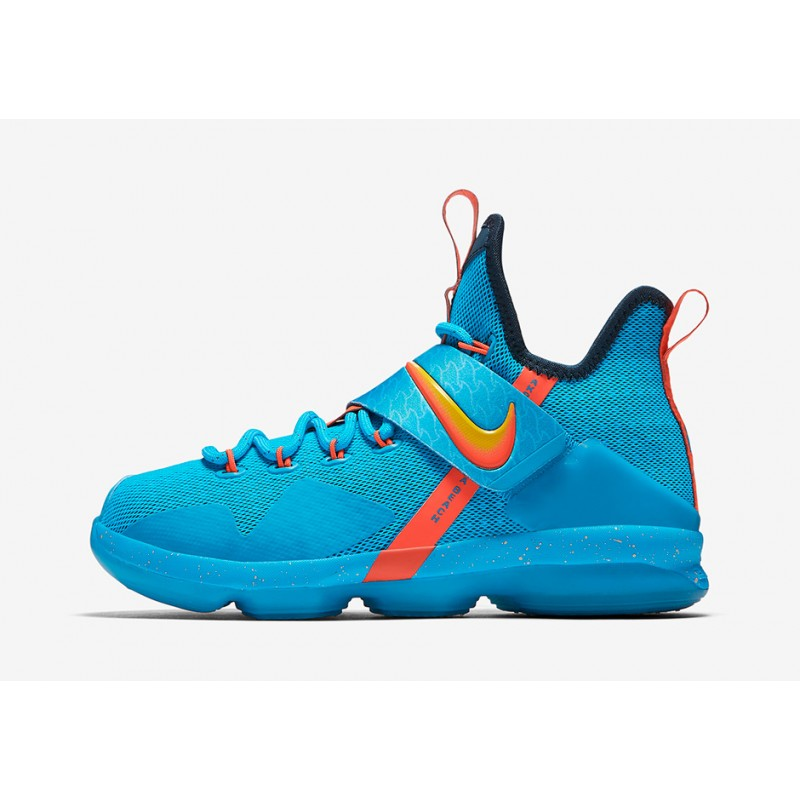 "Nike LeBron 14 GS ""COCOA BEACH"" Blue 859468-477 Black Friday"