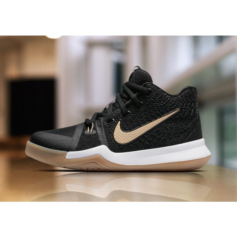 """Nike Kyrie 3 """"BADGE OF HONOR"""" Black 859466-092 Cyber Monday"""