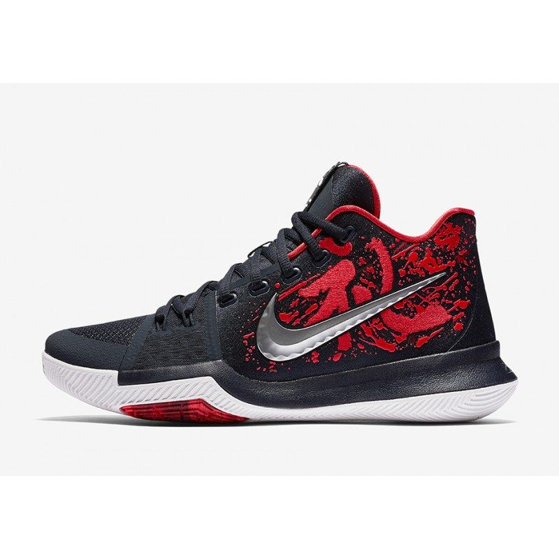 "Nike Kyrie 3 ""SAMURAI Black/Red 852396-900 Cyber Monday"
