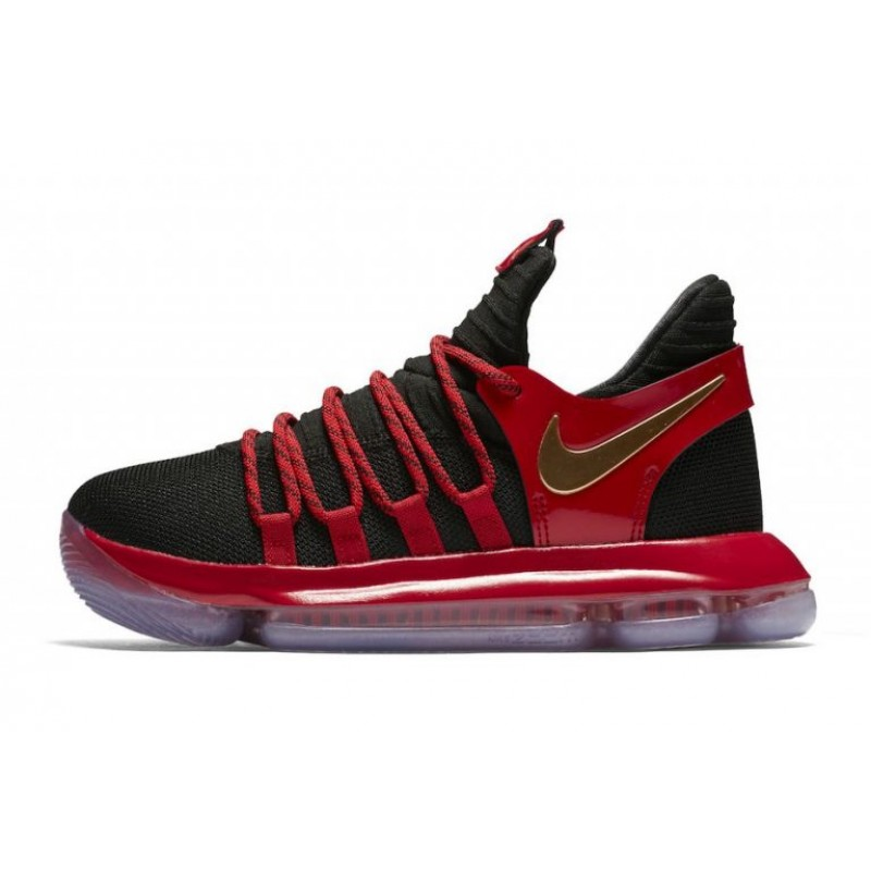 Valentines Day Nike KD 10 Black/Metallic Gold/University Red-Bright Crimson AJ7220-076