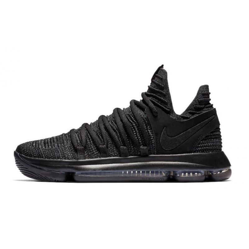 Valentines Day Big Promotion for Nike KD 10 Black/Dark Grey 897816-004