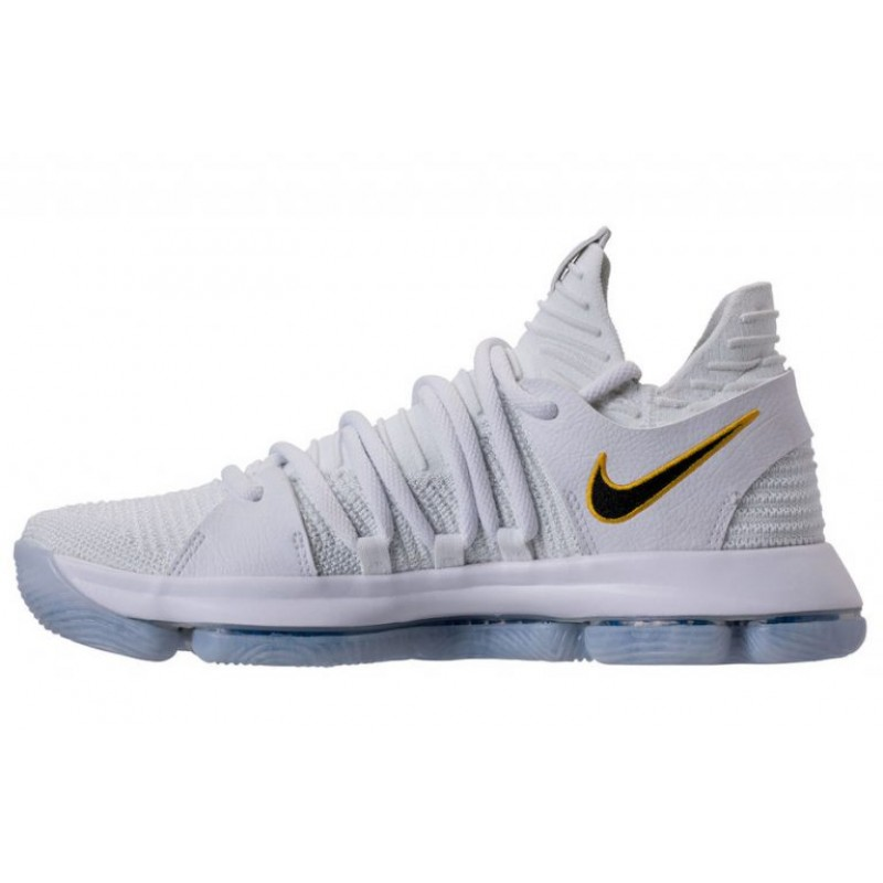 "Valentines Day Nike KD 10 ""Numbers"" White/Game Royal-University Gold 897815-101"
