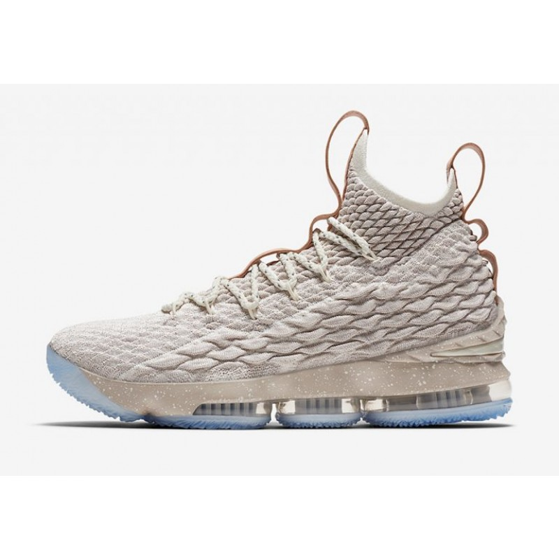 "Excellent Nike LeBron 15 ""Ghost"" String/Vachetta Tan-Sail 897648-200"