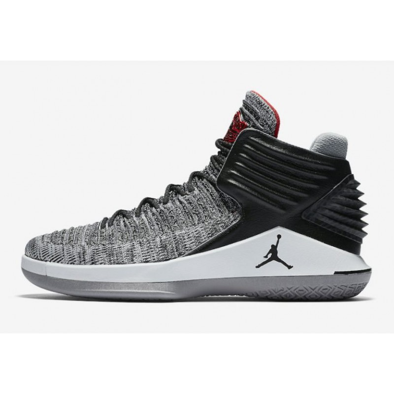 "Valentines Day Trendy Air Jordan 32 ""MVP"" Black/University Red-White-Cement Grey AA1253-002"