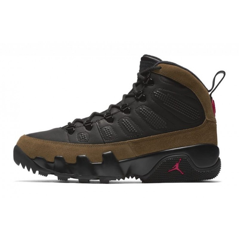 "Air Jordan 9 Boot NRG ""Olive"" Black/True Red-Light Olive AR4690-012"